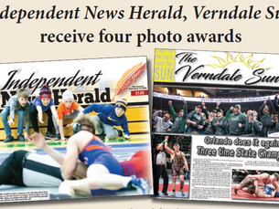 Verndale Sun, Independent News Herald receive awards for photography