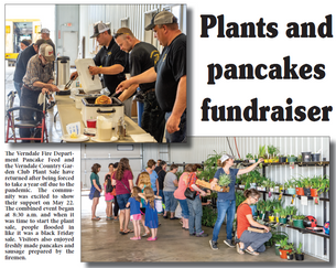Plants and pancakes fundraiser