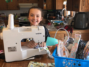 Hess has a giving heart: Sewing masks to keep others safe