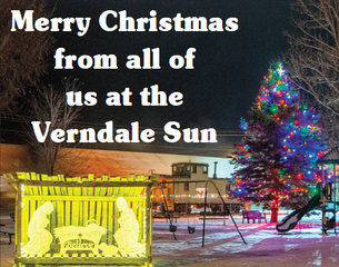 Merry Christmas from all of us at the Verndale Sun