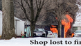 Shop lost to fire