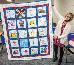 Prayer quilt gifted to a very special person who is an inspiration