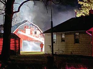 Barn fire near Clarissa