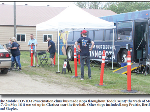 COVID mobile vaccination bus visits the area