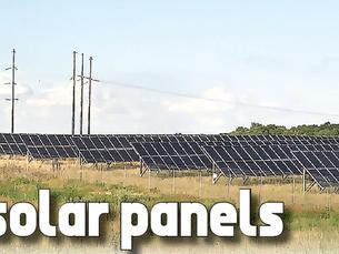 Fields of solar panels