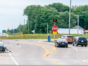 No injuries in a two-vehicle crash