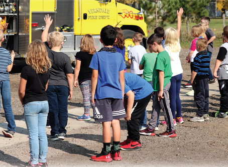 Students learn about fire safety