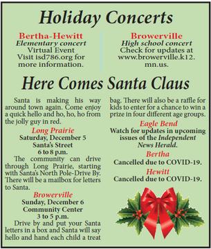 Holiday Concert and Santa Visits