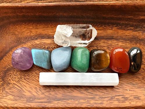 Chakra Balancing Tumbled Crystal Healing Collection