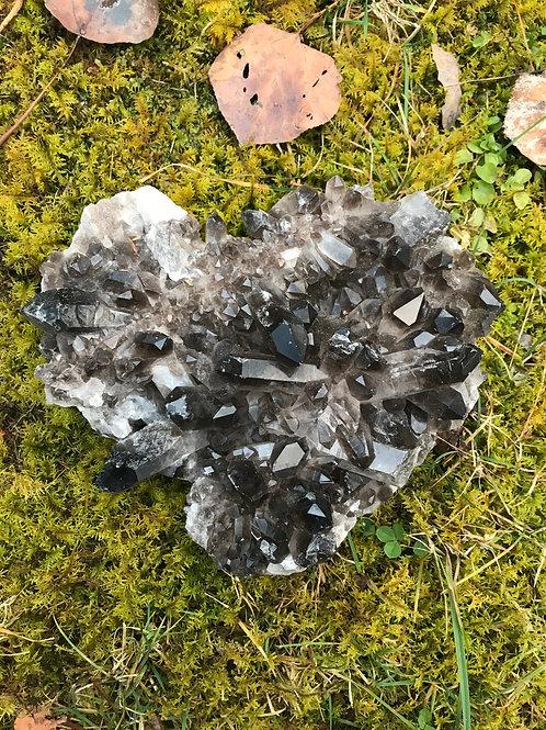 Smoky Quartz Cluster Heart