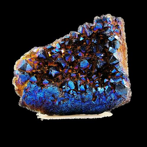 Cobalt Aura Quartz