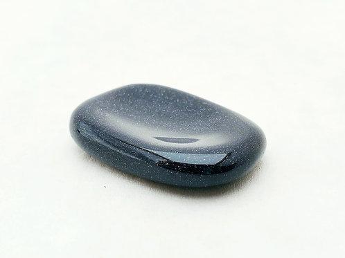 Blue Goldstone Worry Stone