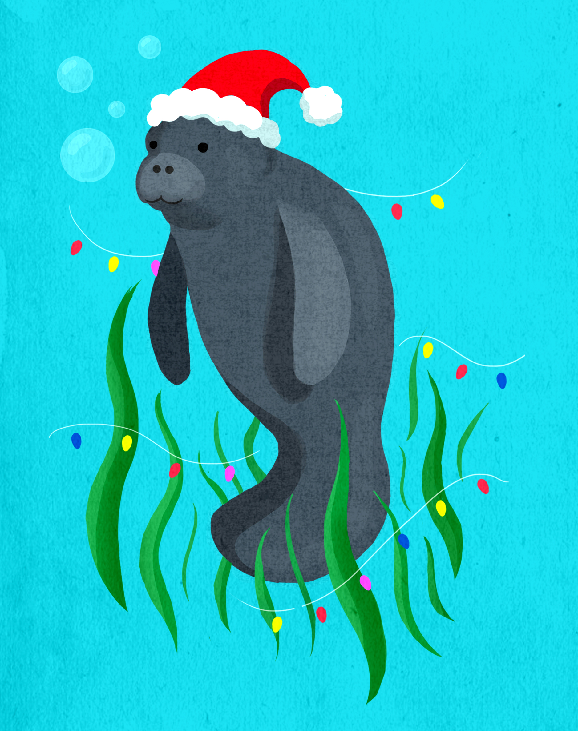 """Holiday Manatee"""