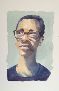 """Miles"" - watercolor"