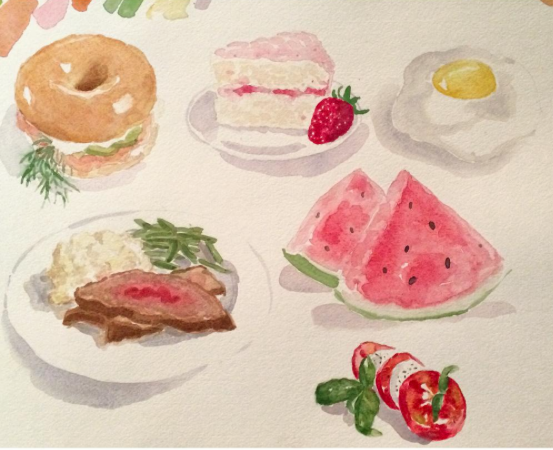"""Noms"" - watercolor"
