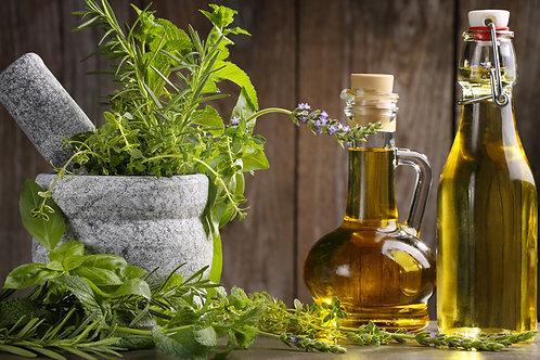 8 oz Herb Infused Organic Castor Oil Pack Kit
