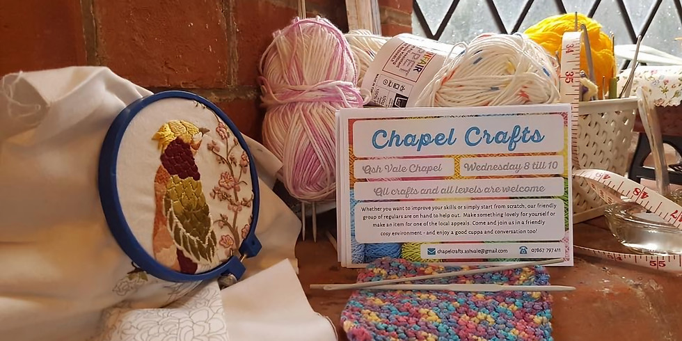 Chapel Crafts - Wed 8-10pm
