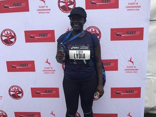 Lydia Runs Fleet Half Marathon for Chapel Project