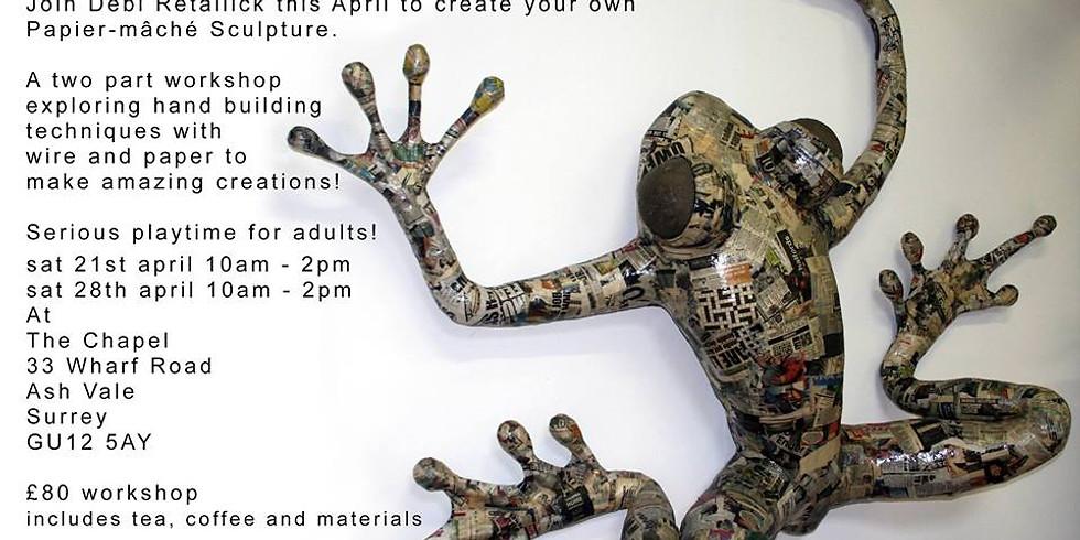 Sculptural Papier Mache 2 Parts Course - Part 2