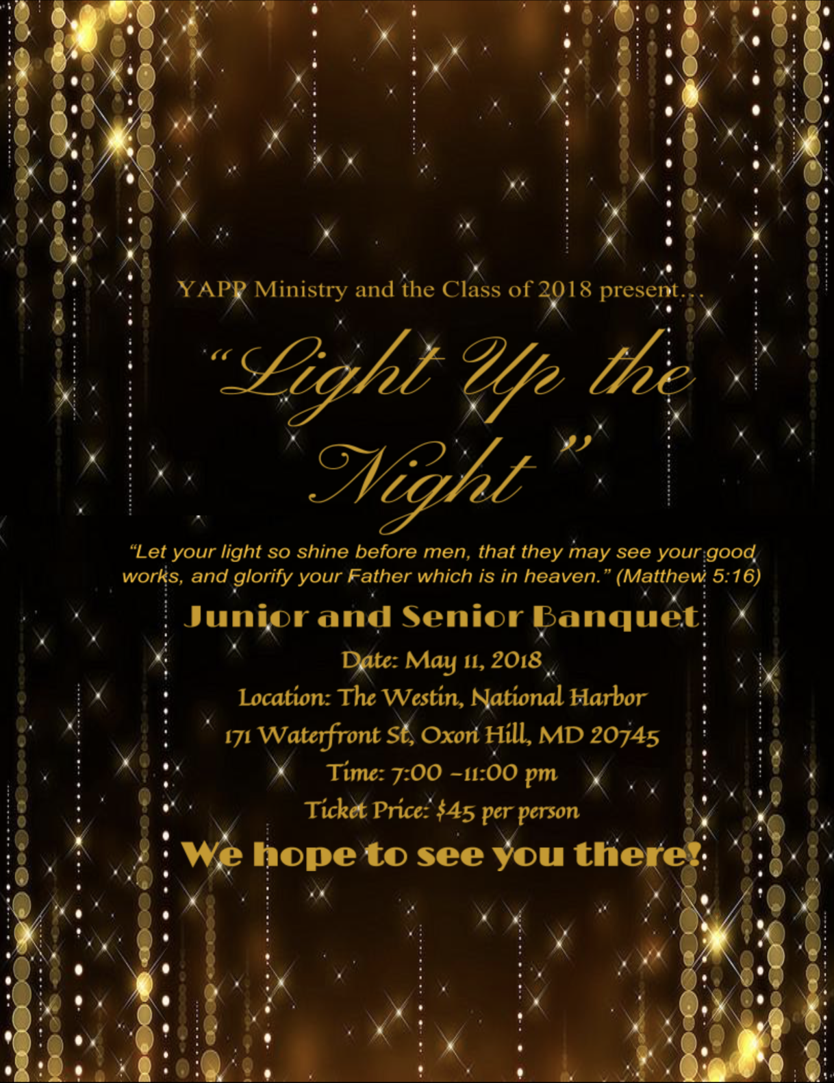 Banquet Celebration Flyer