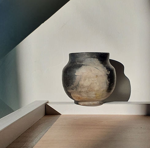 Pit fired moon jar.jpg