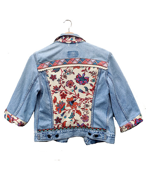 """""""FLORA"""" - Embellished Denim Jacket"""