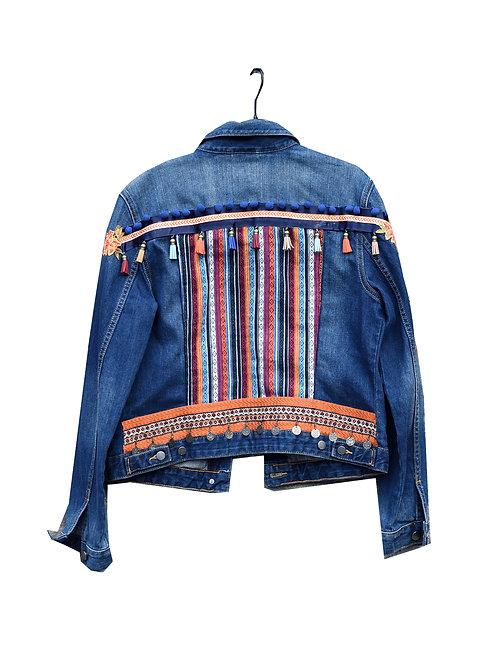 """""""FRINGE FEAST"""" - Embellished Denim Jacket"""