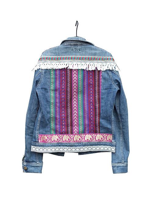 """INDIAN GLAMOUR"" - Embellished Denim Jacket"
