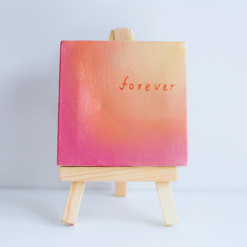 """""""forever"""" mini love note painting"""