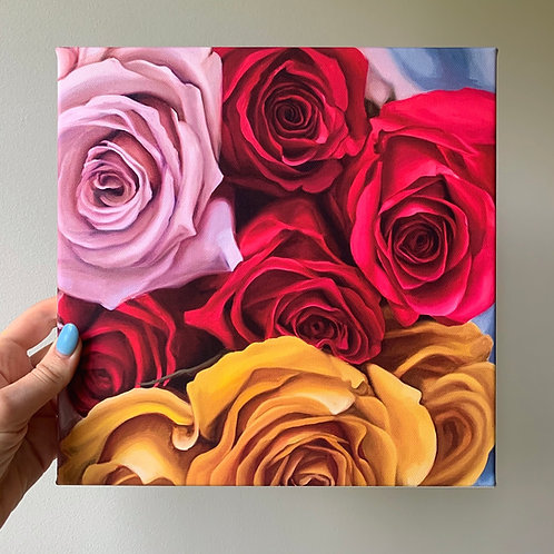 Roses 10x10 Canvas Wrap Print