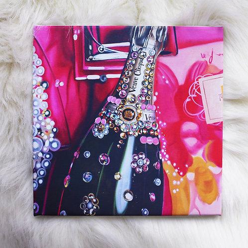 Rosé Veuve Canvas Wrapped Print