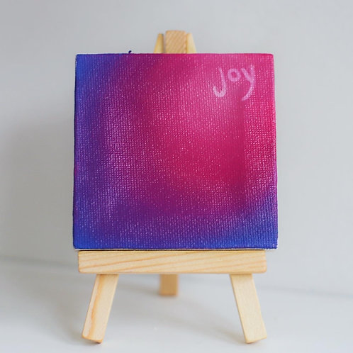 """Joy"" mini love note painting"