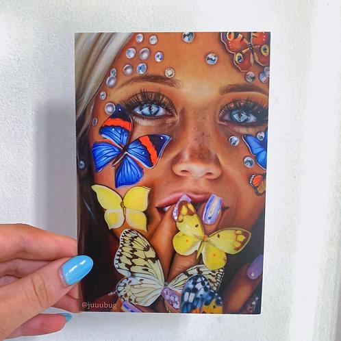 Butterfly Kiss 4x6 Postcard Print