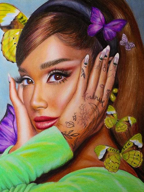 Original Colored Pencil Ariana Grande Drawing