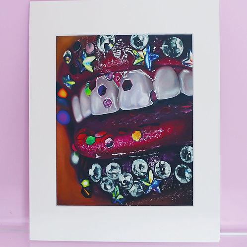 """""""Confetti Kiss"""" Mini Print"""