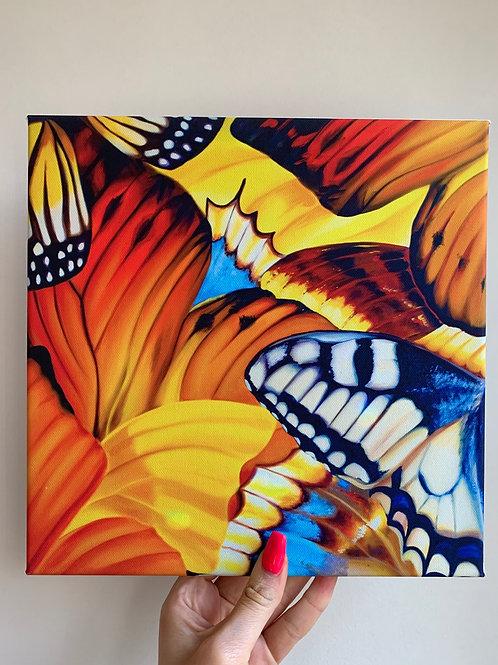 First Day of School Butterflies 10x10 canvas wrap print