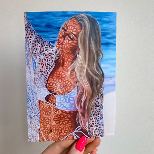 Floral Lace 5x7 Postcard Print