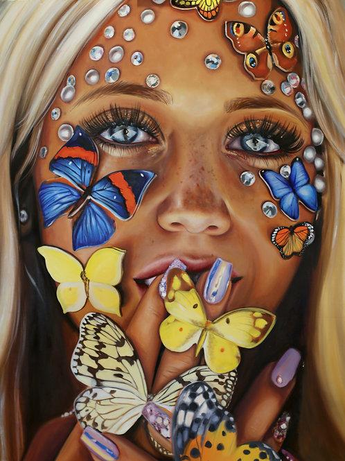 Butterfly Kiss Giclée Print