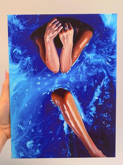 Blue 1 Canvas Wrap Print