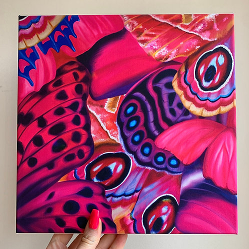 First Kiss Butterflies 10x10 in. Canvas Wrap Print