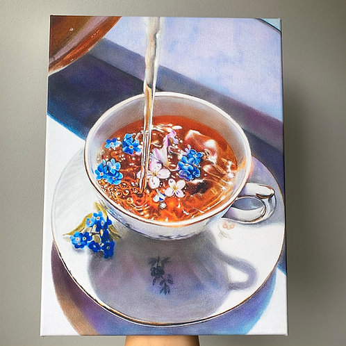 Tea 9 x 12 in. Canvas Wrap Print