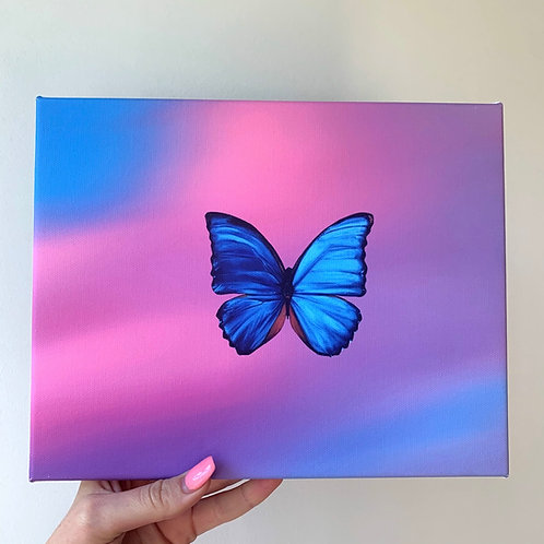 Nicole's Butterfly Cloud Canvas Print