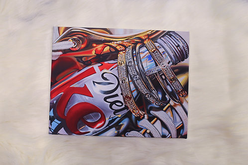 Coke & Cartier Canvas Wrapped Print