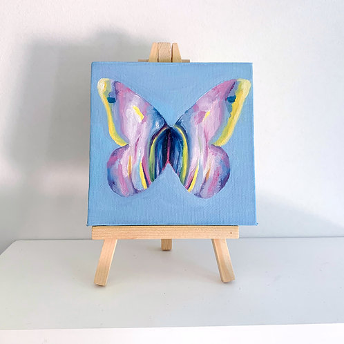O'Keeffe inspired butterfly with stand