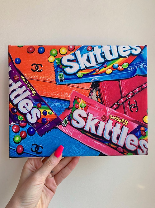 Skittles & Chanel 8x10 Canvas Wrap Print