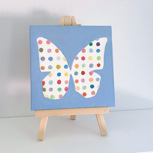 Hirst inspired butterfly with stand