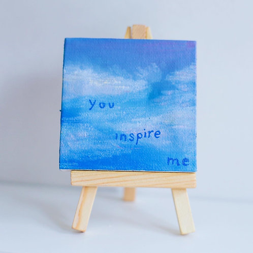 """you inspire me"" mini love note painting"