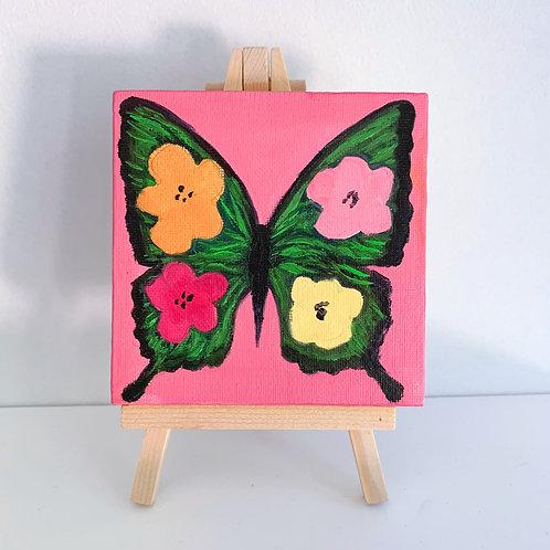 Warhol inspired flower butterfly - pink