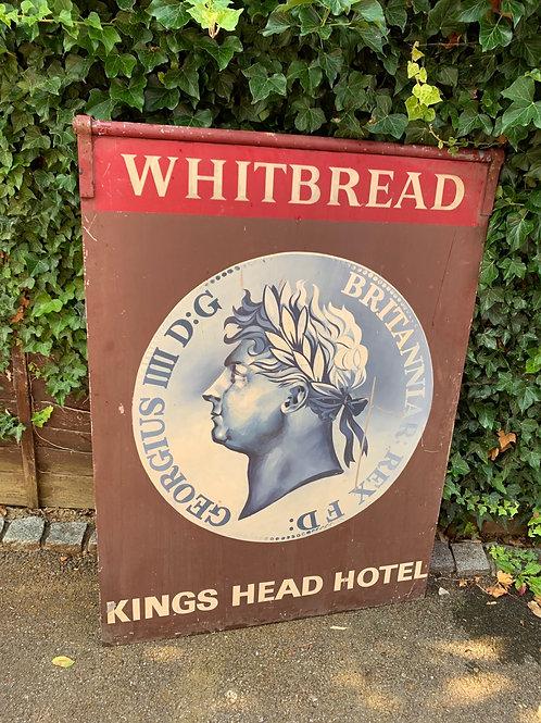Original metal Whitbread pub sign