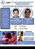 International Speaker Symposia: Pediatric Hematology Oncology Chapter